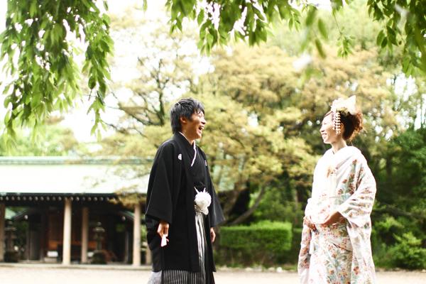 大阪城公園での和装撮影
