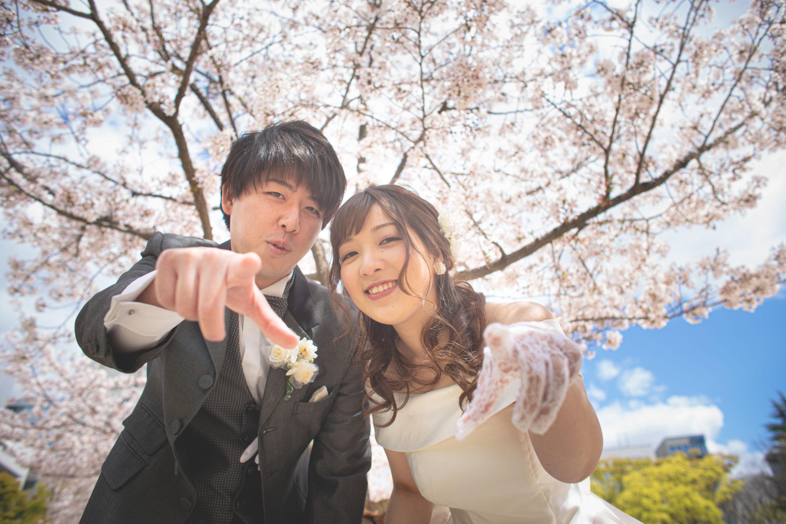 フォトウェディング,ロケ,桜